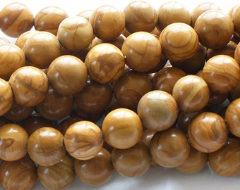 Scene Jasper Round Gemstone Beads