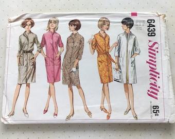 1966 Simplicity Women's Coat-Dress/Coat Pattern No. 6439