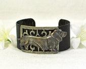 Doxie Cuff Bracelet Grayson - Dachshund Bracelet - Wienie Dog - Doxie Bracelet - Gift for Dog Lover