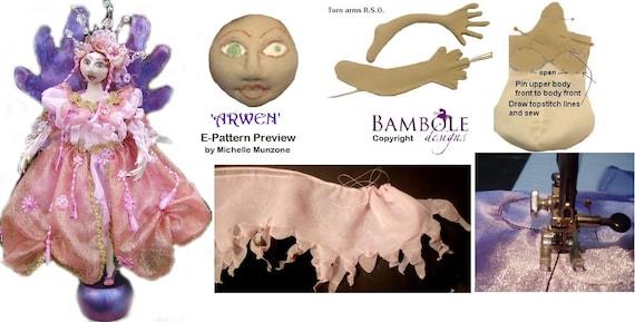 E- PATTERN, ARWEN, Fairy Princess, Cloth Doll Making, DIY Fairy, Cloth Doll Projects, Doll Workshop, Elf Tutorial, Fairy Tutorial, Pixie Diy