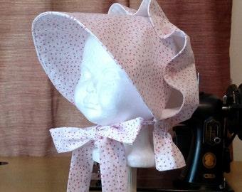 Baby Girls Button Bonnet, 12 - 24 Months