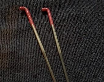 CRAZY Felting Needles 32 gauge triangle  felt needle 2 pack color coded