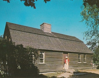 Vintage 1960s Postcard Old Sturbridge Village Massachusetts Stephen Fitch House Windham Historic Building Photochrome Era Postally Unused