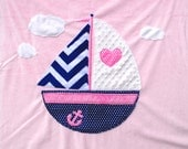 Nautical Personalized Baby Blanket