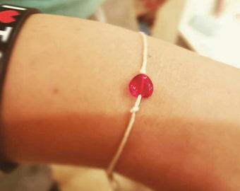 Red Heart Wish Bracelet Three Wishes Bracelet Birthday Wish Bracelet Bridal Shower Favor Under 10