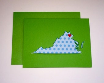 Handmade STATE Note Cards  FREE Domestic Shipping