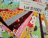 Fabric DESTASH LOT S1001 Flea Market Fancy by Denyse Schmidt 15.5 ounces Ten Inch Squares Layer Cake Scrap Pack Nearly 1 pound of fabric.