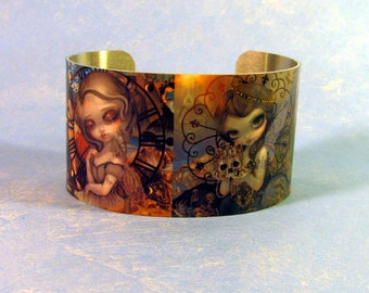 Unseelie Court Deadly Sins metal cuff bracelet from Jasmine Becket-Griffith Art Wrath Sloth Greed Lust goddesses 7 deadly sins