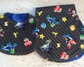 Mario Brothers Infant Baby Bib and Baby Burp Cloth- set of 2- gift set Doney Kong go cart