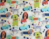 Dogs Galore - Weighted Scarf with Pockets, Neck Wrap, Lap Pad - Choose weight and minky color - special needs - flannel