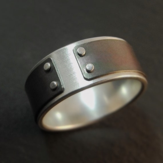 Ring - Silver, Titanium Mind The Gap Band, Mens Wedding Band, Men's Wedding Band, Mens Wedding Ring, Silver Mens Ring, Men's Ring, Mens Ring