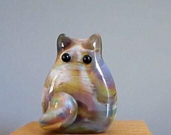 Cat Bead Handmade Lampwork Focal - Toby  FatCat