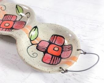 Long Three Part Platter - Handmade Pottery