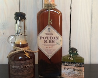 Harry Potter Potions Starter Kit - Veritaserum, Pepper-Up Potion, and Potion No. 86