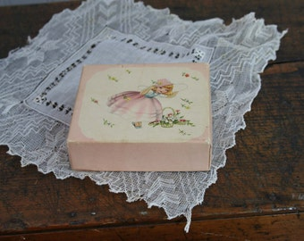 vintage Greeting CARDS and BOX - 50's retro kitsch