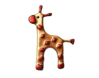 Giraffe Pin, Giraffe Brooch, Giraffe Jewelry, Giraffe Pin, Zoo Animals Jewelry