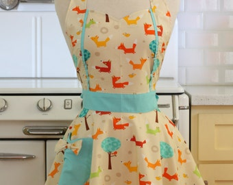 Retro Apron Fox MAGGIE Full Apron