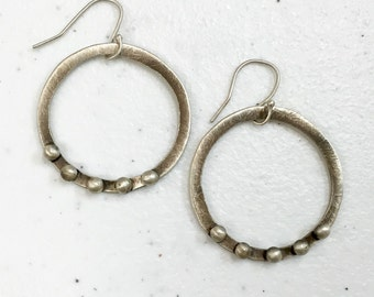 Hoop and Dots Earrings