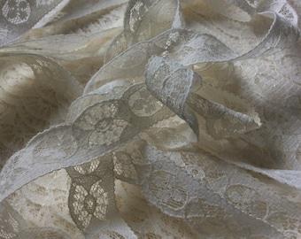 Ecru Narrow Lace/Off White Vintage Lace Trim/23 yards