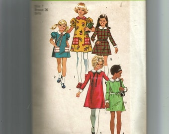 Simplicity Child's and Girls' Tent-Dress Pattern 5166