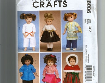"McCall's 18"" Doll Clothes Pattern 6006"