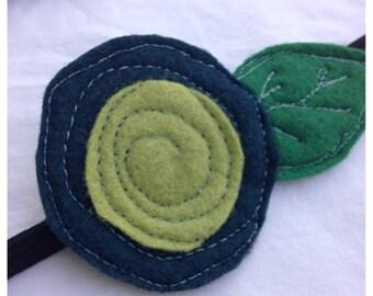 40% FLASH SALE- The Little Garden Bloom- Felt Headband-Brooch