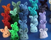 Mini Bunny Plushie, set of 3, Pick Your Colors, Easter Basket toys