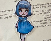 Bookmark - Laminated - Blythe - Doll - Anime - Chibi - Kawaii - Blue