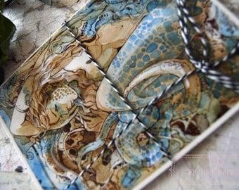 PostCard - Mermaid - Siren - Sea Snake  - Fairy Tale - Fantasy - Art Card