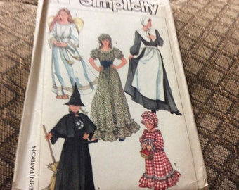 Simplicity costume pattern #7650 child's size 2-4