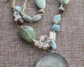 Isak aqua necklace