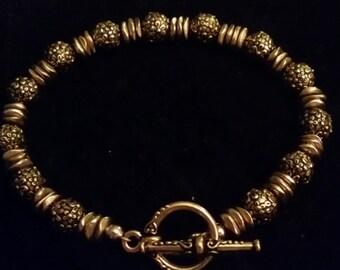 Beautiful Gold Pewter Bracelet
