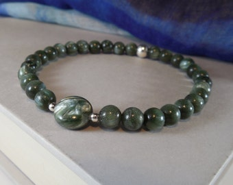 Seraphinite Stretchy Bracelet