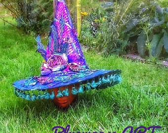 The Bohemian Fantasy Witch Hat Bluemoose Costume Art Ready to Ship
