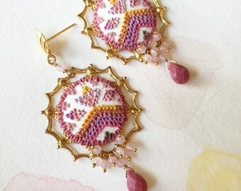 semerang - celebratory magical guava mango earrings