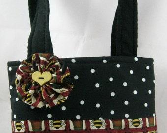Mini Tote Bag, Hand Bag, Country Print, Lunch Bag, School Bag, Device Bag, Young Girls Bag, Teen Bag, Reusable Gift Bag, FREE SHIPPING