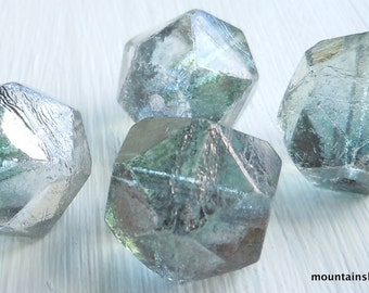 Blue Luster Czech Glass Beads 16mm English Cut - You Choose Quantity