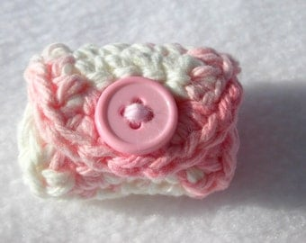 Crochet Earbud Cozy, Earphone Holder, Cord Keeper Organizer