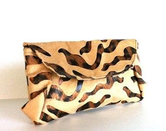 Evening clutch , Clutch bag purse , faux fur clutch , faux fur purse , evening bag ,animal print evening clutch , party bag ,vegan purse