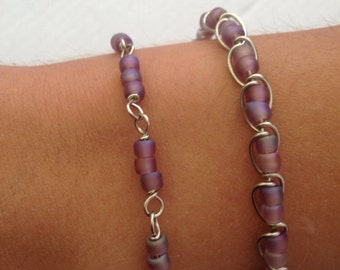 Link or Wire Wrapped Bracelet