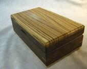 Watch Case-Eyeglass Case- Book matched Zebra wood & Walnut - MLB 92