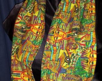 Egyptian King Tut Sarcophagus Custom Cotton/Lycra Knit Infinity Scarf