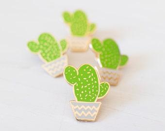 Cactus pin - enamel pin - lapel pin - succulent pin - plant pin - succulent gift - enamel jewellery - cactus gift - pin game - flair game