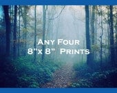 Discounted Print Set - Save 20% on Four Prints, 8x8 - Perfect for Home Decorating Variety and Clusters - Four Photos - Colorful Photography
