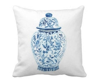 GINGER JAR No. 5  PILLOW 2 Colors & 4 sizes (indoor and outdoor fabrics)