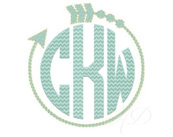 Arrow Embroidery Design Frame Monogram Machine Embroidery Design Instant download BX 4x4 5x7 6x10