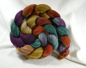 NEW Hand Dyed Mixed Merino Black and White Combed Top for Spinning Yarn Hollow Riot in The Garden Multi Color