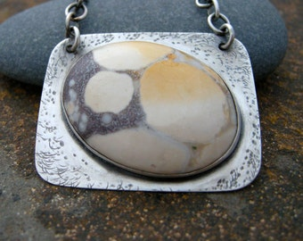 jasper necklace, sterling silver and jasper stone jewelry, stone necklace, handmade necklace, jasper stone necklace