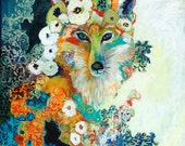 Frida Fox - Modern Fine Art Wildlife Print by Jenlo