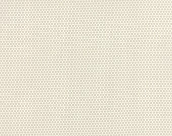 Little Ruby - Little Bliss Dot in Grey: sku 55134-15 cotton quilting fabric by Bonnie and Camille for Moda Fabrics - 1 yard